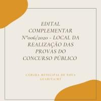 EDITAL COMPLEMENTAR Nº 006/2020