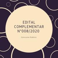 EDITAL COMPLEMENTAR Nº 008/2020